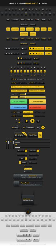 150 User Interface Elements by ~Royks on deviantART