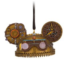 Steampunk Ear Hat Ornament - Clock