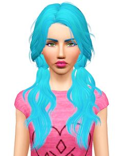 NewSea's Candy Sea hairstyle retextured by Pocket for Sims 3 - Sims Hairs - http://simshairs.com/newseas-candy-sea-hairstyle-retextured-by-pocket/