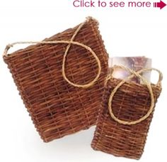 Grapevine wall mount basket, bought 2 sets