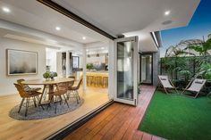 Darling Street, South Yarra, Vic View property details and sold price of Darling Street & other properties in South Yarra, Vic Indoor Outdoor, Outdoor Living, Huge Kitchen, Home And Living, Townhouse, Beautiful Homes, Beach House, Floor Plans, Real Estate