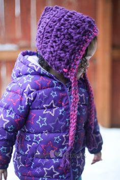 Todder Crochet Pixie Hat Purple/Pink by OmasFlohmarkt on Etsy, $12.00