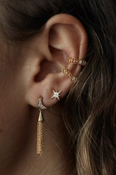 Rue Gembon Jordy Moon & Star Earring Set