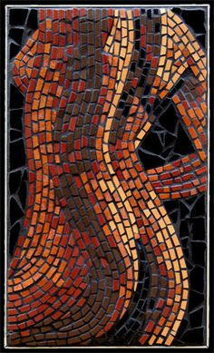 Nude depiction inspired by the astrology element Earth. Mosaic mural created in ceramic tiles by Brett Campbell Mosaics