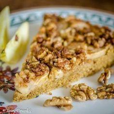 Podzimní jablkový koláč - Spicy Crumbs - My site Czech Recipes, Raw Food Recipes, Sweet Recipes, Cooking Recipes, Luxury Food, Crazy Cakes, Healthy Cookies, Sweet Cakes, Sweet Desserts