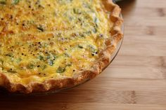 Gluten free asparagus quiche with crust recipe from Joy the Baker