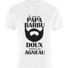 """""""je suis un papa barbu doux comme un agneau"""" t-shirt pour homme - taille s à xxl"""