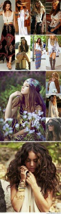 Bohemian hair style, must try it