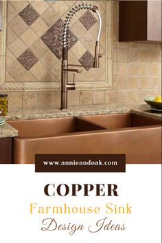 A copper farmhouse sink is an excellent option if you want to add an element of authenticity to your kitchen and create a relaxing atmosphere. Copper sinks are suitable for traditional-style kitchens, but they can work in modern settings, as well. Copper sinks pair well with wooden surfaces and earthy textures. Some designers combine copper sinks with ambient lighting for added visual appeal. Diy Home Interior, New Interior Design, Interior Decorating, Copper Sinks, Copper Farmhouse Sinks, Sink Design, Kitchen Design, Terraced Backyard, Home Renovation