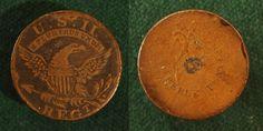 2nd Regiment Officer's, War of 1812 button. No shank.