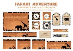Safari Party Collection von JenTbyDesign auf Etsy