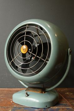 Vintage 1950s Industrial Vornado Electric Fan / B24C1-1.  Right out of my childhood.
