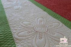 Piece N Quilt: Inspired by Figgy Christmas! Quilting Stencils, Quilting Templates, Stencil Patterns, Longarm Quilting, Quilting Tips, Free Motion Quilting, Hand Quilting, Quilt Patterns, Straight Line Quilting