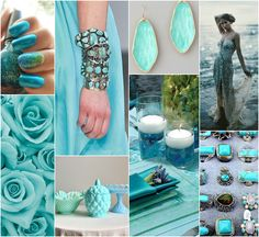 """Polish blogger Maria analyses shades of blue right for each season type:  turquoise. """"Right for every season type"""""""