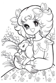 Vintage Shojo Coloring Book - P5 | Nurie - Kawaii Coloring | Pinterest