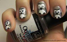cute owl nailssss Owl Nail Art, Owl Nails, Black And White Nail Art, Cute Owl, Beauty Hacks, Beauty Tips, Hair Hacks, Cute Nails, Girly Things