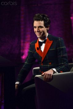 Mika makes a guest appearance on the TV show 'Che tempo che fa' on Rai3, Milan, Italy