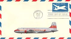 1958 7c Airmail Postal Envelope First Day Cover