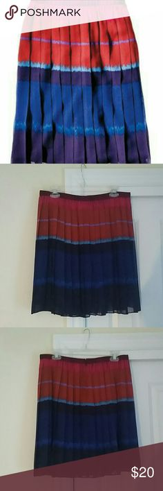 """ELLE Pleated Polyester Skirt Featured in Real Simple Magazine's """"10 Finds for $50 and Under: Prim pleats get a beautiful bohemian twist."""" Fully lined, 20"""" length. Gently worn and machine washable. Elle Skirts Mini"""