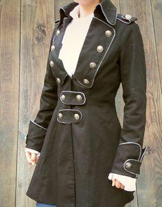 Damen Piratenmantel Justaucorps