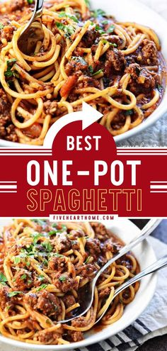 Make the creamiest, most flavorful pasta recipe for a family-friendly dinner! This quick and easy One-Pot Spaghetti is the BEST. Once you try this improved version of the classic, you won't be having… College Meals, College Recipes, Easy One Pot Meals, Easy Dinners, Pasta Recipes, Beef Recipes, One Pot Spaghetti, Pasta Dishes, Food Hacks
