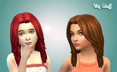 Dynamic Hairstyle for Girls at My Stuff via Sims 4 Updates