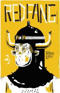 RED FANG / UP+DT Fest - Josh Holinaty Illustration