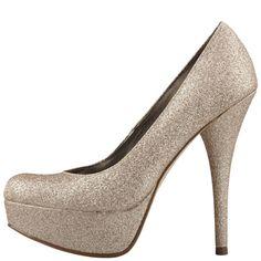 Gold dress black heels payless