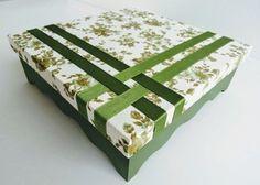 Caixa Verde Oliva c/ 9 divisórias