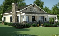 Bungalow Plan: 1,378 Square Feet, 3 Bedrooms, 2 Bathrooms - 7806-00013