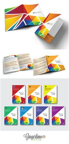 The Brent School's Partnership commissioned Gingerlime to design a folder and 6 individual brochures for their Specialist Centres. Our brief was to custom design a bright and colourful folder and 7 matching brochures that incorporated the BSP logo (colours) and the Specialist Centre logo (pinwheel). Each Specialist Centre brochure was given an individual colour to make each school/subject easy to identify.