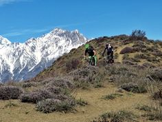 Mountain biking at nearly 14,000ft in the Himalayas of Nepal: not your average Monday.  #adventure #travel #nepal #mountainbiking  http://www.mountainbikeworldwide.com/bike-tours/nepal