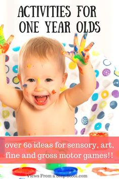 Awesome Activities for 1 Year Olds! {Tested and Loved} Your one year old can play too! Sensory, arts and crafts, fine and gross motor activities that are safe for one year olds! Toddler Play, Toddler Learning, Baby Play, Toddler Preschool, Baby Toys, Learning Games, Infant Toddler, Gross Motor Activities, Sensory Activities