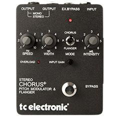 SCF Stereo Chorus Flanger - The Original Chorus Flanger Pedal | TC Electronic - The SCF pedal is the TC Electronic epitome of awesome. It was a smash hit when it came out and then naturally progressed to an industry standard unlike anything after. Still used in every pro-studio and on countless pro guitarists' pedalboard, the SCF's beautiful sounds continue to define music.