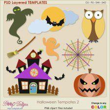 Halloween Layered TEMPLATES 2 #CUdigitals cudigitals.com cu commercial digital scrap #digiscrap scrapbook graphics