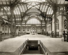 Interior of Penn Station, 1910.