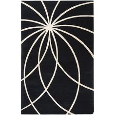 Forum Black and White Rectangular: 7 Ft. 6 In. x 9 Ft. 6 In. Rug - (In Rectangular)