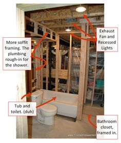 Here Is A Breakdown Of Costs When Your Are Finishing Your Basement Bathroom.  Detailed Plumbing Cost, Tiling Costs And The Bathroom Components.