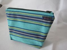 Striped Makeup Bag / Cosmetic Purse by Missy J by MissyJHandmade, £8.00