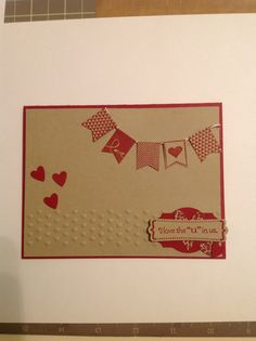 Stampin Up SAB 2014 Banner Blast, and P.S. I Love You stamp set (retired), cherry cobbler and crumb cake