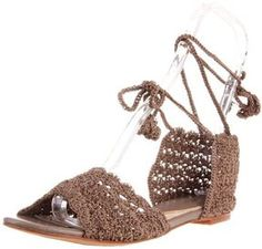 ALL BLACK Women's Crochet Lady Ankle-Strap Sandal on shopstyle.com