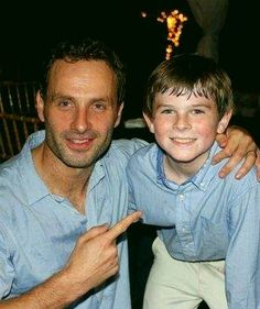 Andrew Lincoln and Chandler Riggs - The Walking Dead