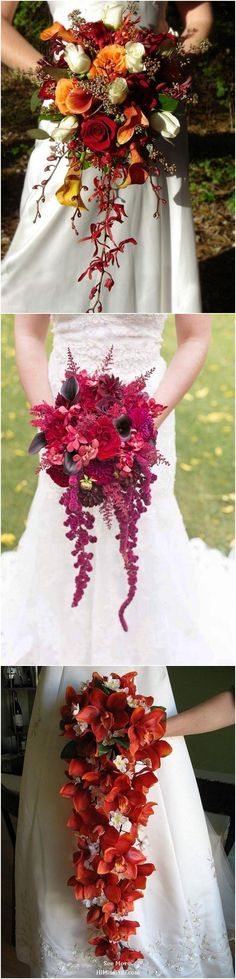 fall wedding bouquets / http://www.himisspuff.com/fall-wedding-bouquets-for-autumn-brides/