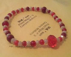 Swarovski and red pearls