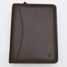 """AVAILABLE Franklin Covey Compact Brown Full Nappa Leather Zip Binder Planner 1.25"""" Rings  Material: Full Grain Nappa Leather Color: Brown Size: Compact Features: On the left: 1 credit card pocketsecretarial full-height pocketfull-height pocket On the right: 1 credit card pocket vertical pocket full-height pocket With two leather pen loops and zip closure Dimensions: 6.25"""" x 8.125"""" x 2"""" Ring Size: 1.25"""" replaceable Made in the USA  In preloved and used condition. With various marks on the…"""