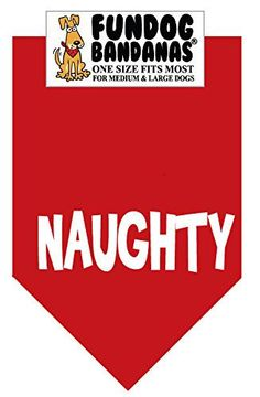 BANDANA - Naughty (Christmas) for Medium to Large Dogs - red - http://www.thepuppy.org/bandana-naughty-christmas-for-medium-to-large-dogs-red/