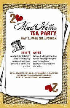mad hatter tea party invitations templates | Recent Photos The Commons Getty Collection Galleries World Map App ...