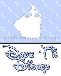 Cinderella Disney Trip Countdown Calendar by AbilityPoweredDesign