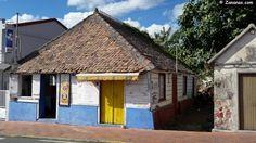 Jolie case créole aux Trois ilets. Martinique, Antilles françaises.