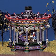 """Department 56: Products - """"Ghostly Carousel"""" Snow Village Halloween"""